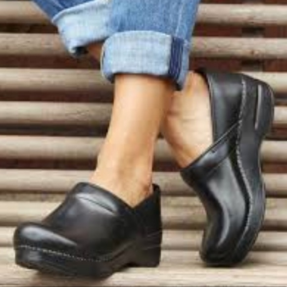 Dansko Shoes Black Cabrio Slip Resistant Clogs 9 Poshmark